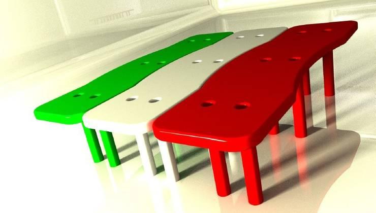 Panchina:  in stile  di Studio L'AB Landcsape Architecture & Building, Minimalista
