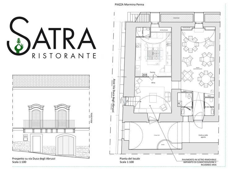 SATRA RISTORANTE: Gastronomia in stile  di Arch. Francesca Timperanza, Eclettico