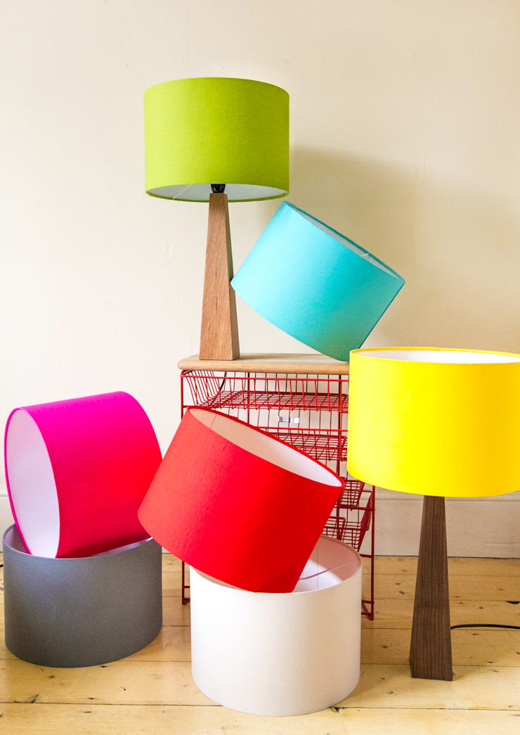 Hand crafted lamps and lampshades:  Living room by Hunkydory Home