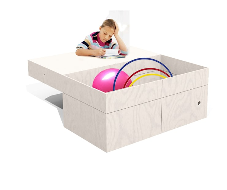 tavolo e contenitore: Stanza dei bambini in stile  di Loop Landscape & Architecture Design