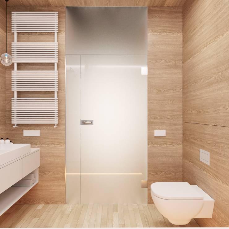 Banheiros minimalistas por 081 architekci