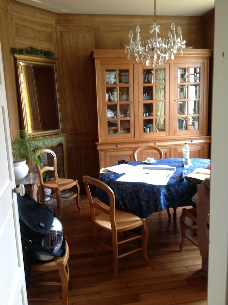 création et décoration d'une cuisine sur chantilly dans un garage:  de style  par l'Envers du Décor
