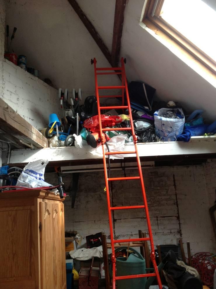 photo avant : le garage avant la création de la cuisine!:  de style  par l'Envers du Décor