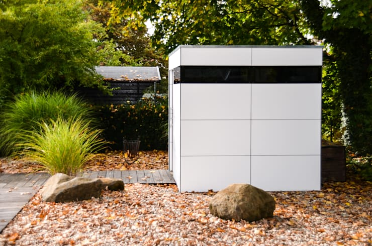 gartenhaus @gart zwei - München:  Garage/Schuppen von design@garten - Alfred Hart -  Design Gartenhaus und Balkonschraenke aus Augsburg