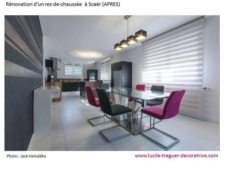 Rénovation d'un rez de chaussé :  de style  par  Lucile Tréguer, décoratrice d'intérieur