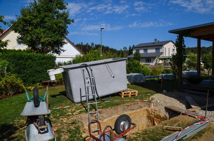 @wat - Minipool, Sauna-Tauchbecken für den Garten: modern  von design@garten - Alfred Hart -  Design Gartenhaus und Balkonschraenke aus Augsburg,Modern