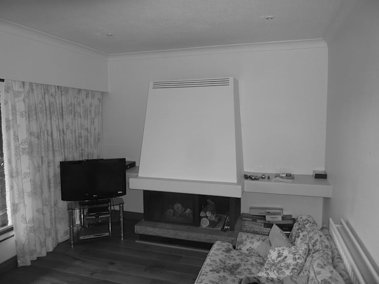 Before image - Family Room:   by Angel Martin Interiors