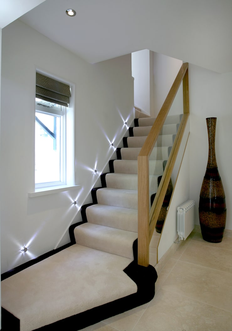 New Staircase:   by Angel Martin Interiors