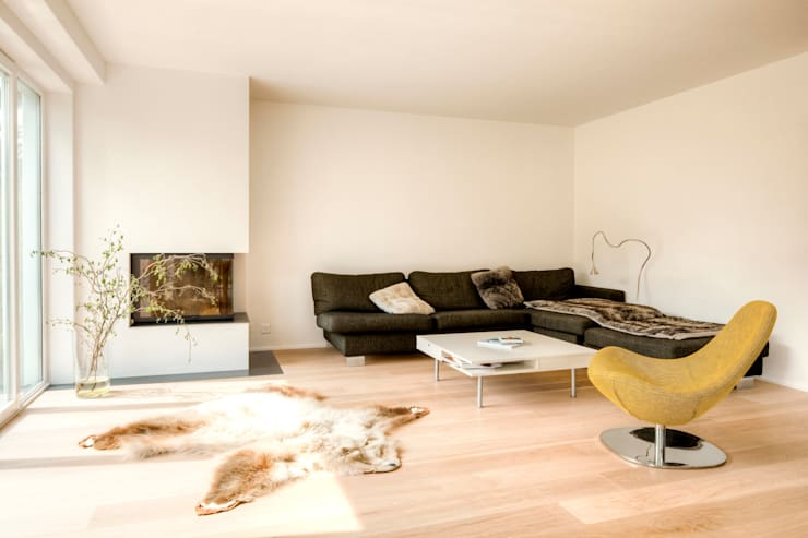 Projekty,  Salon zaprojektowane przez hausbuben architekten gmbh