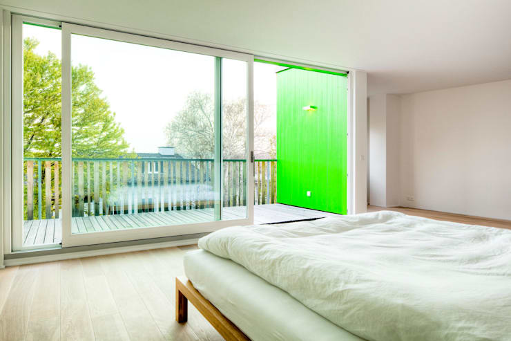 Projekty,  Sypialnia zaprojektowane przez hausbuben architekten gmbh
