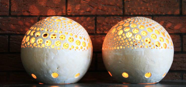 lampion Wnętrze Wulkanu: styl , w kategorii Ogród zaprojektowany przez Aleksandra Mysiorska