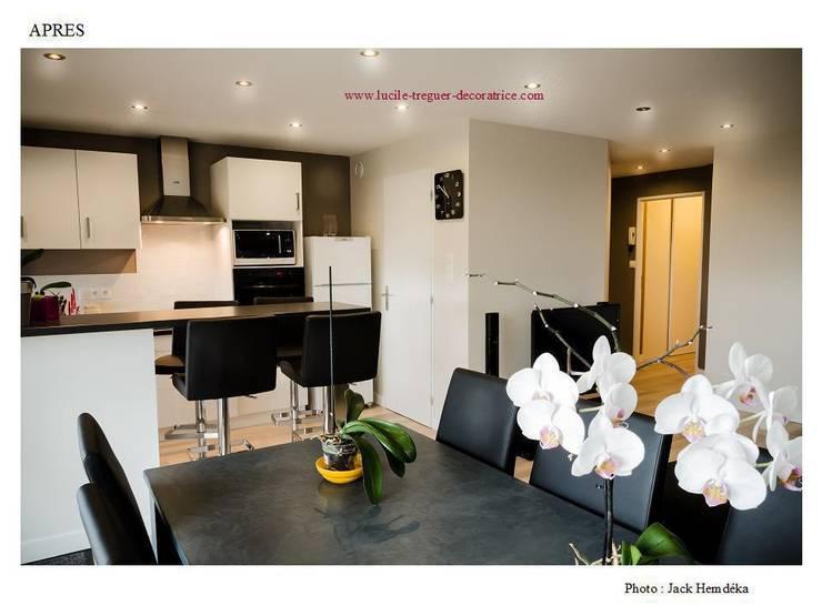 Restructuration et décoration d'un appartement à Quimper:  de style  par  Lucile Tréguer, décoratrice d'intérieur