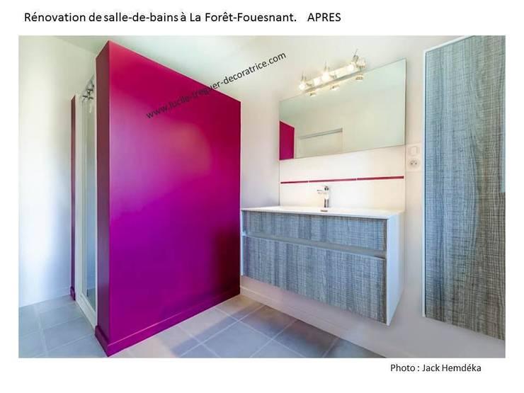 Rénovation d'une salle-de-bains:  de style  par  Lucile Tréguer, décoratrice d'intérieur