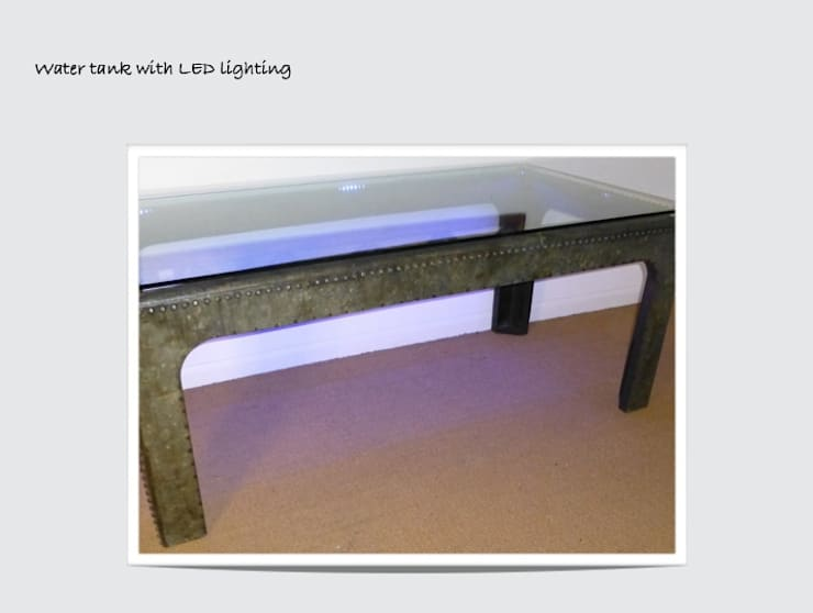 Galvanised Kitchen Table and Bench:   by Antiques by Design