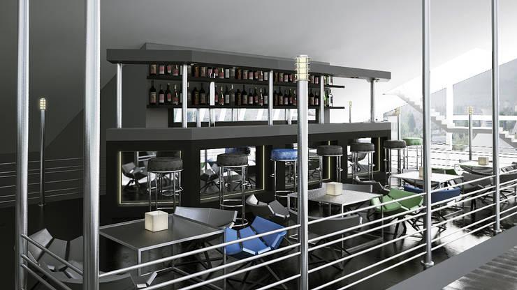 Реконструкция помещения в здании кинотеатра Аврора, Краснодар: Медиа комнаты в . Автор – De Steil