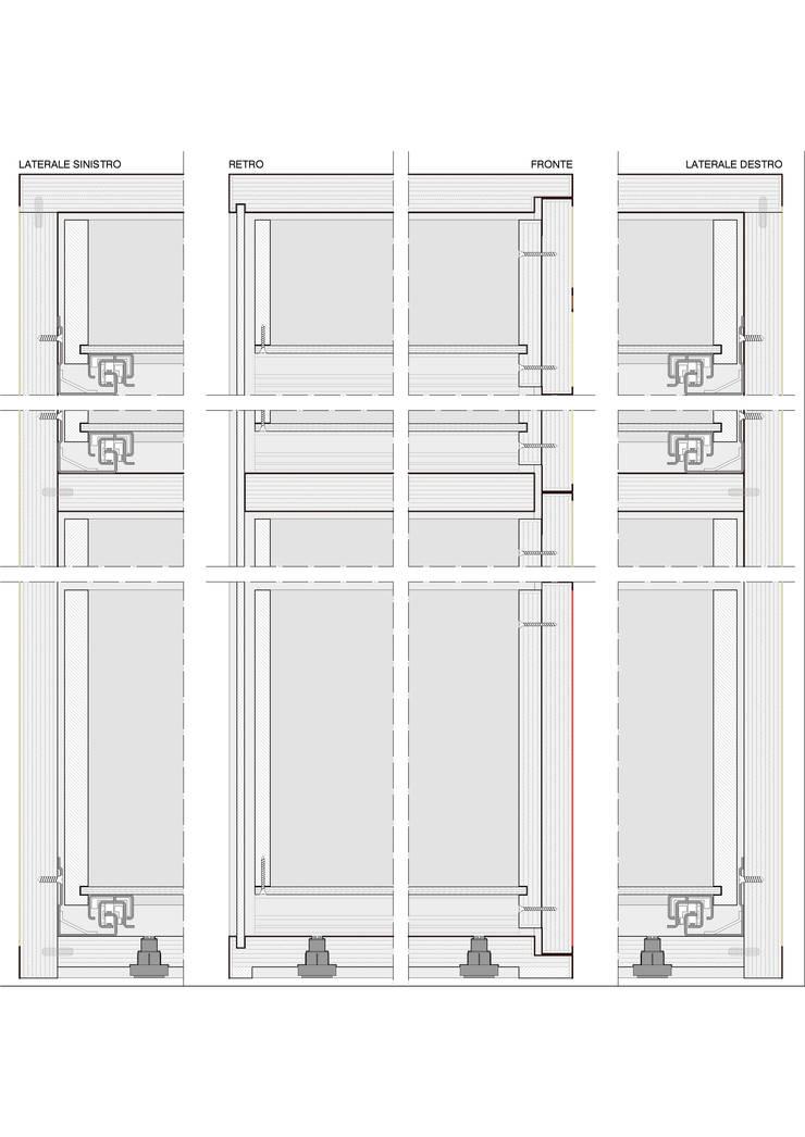 Sezione frontale e laterale di matteo boldrin Moderno