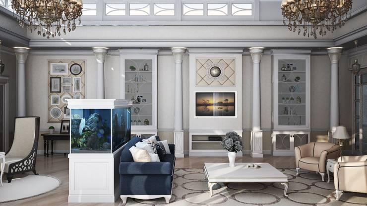 Частный дом, 450 м2, Анапа: Гостиная в . Автор – De Steil