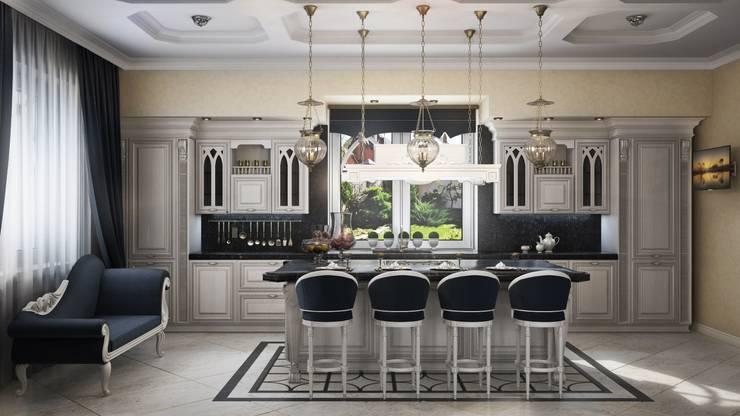 Частный дом, 450 м2, Анапа: Кухни в . Автор – De Steil