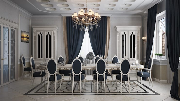 Salas de jantar clássicas por De Steil