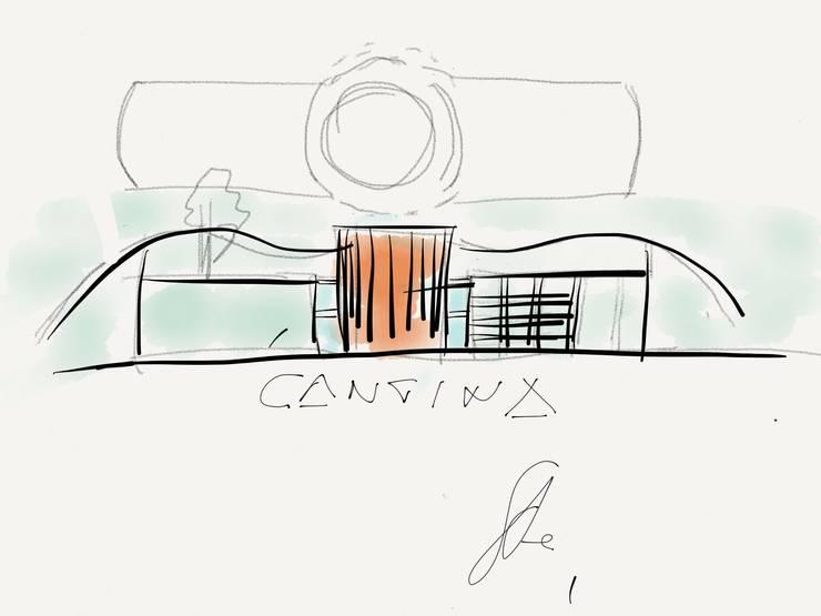 schizzo edificio :  in stile  di Studio L'AB Landcsape Architecture & Building,