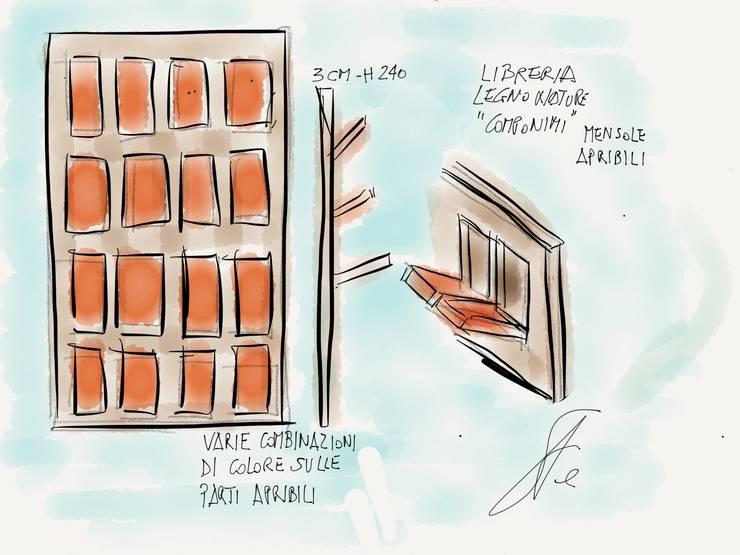 Libreria COMPONIMI:  in stile  di Studio L'AB Landcsape Architecture & Building,