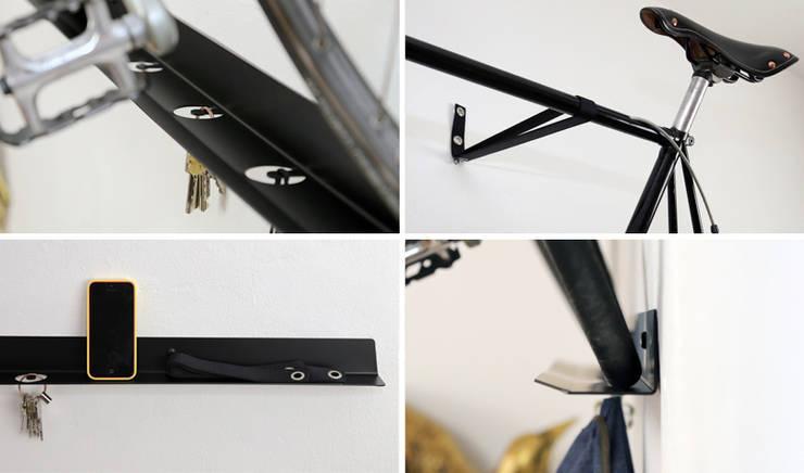 LeWinkel: industrialer Flur, Diele & Treppenhaus von Gregor  Faubel Produktdesign