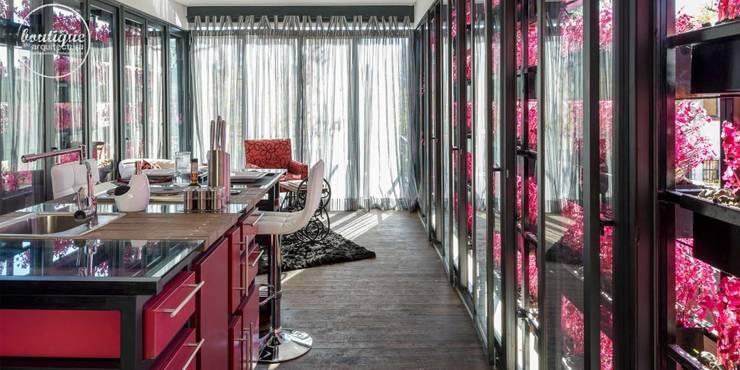 Estudio Coyoacan: Cocinas de estilo  por Boutique de Arquitectura  (Sonotectura + Refaccionaria)