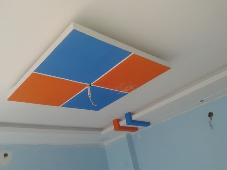 False Ceiling at 8 Streaks Interiors:  Corridor, hallway & stairs  by Eight Streaks Interiors