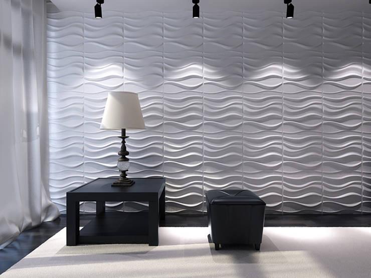 Salas de estilo moderno por paneles3deco