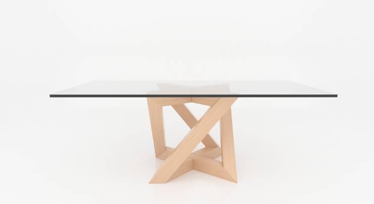 Rekubo: Soggiorno in stile  di Antonio Saporito Architettura+design