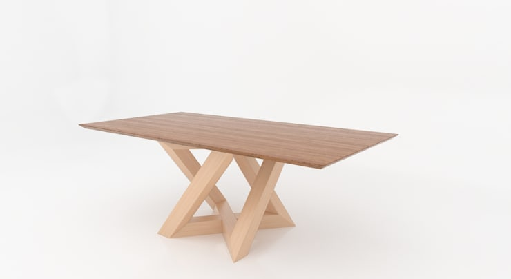 Tavolo: Rekubo: Sala da pranzo in stile  di Antonio Saporito Architettura+design