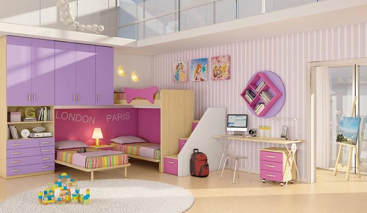Sweet Night: Stanza dei bambini in stile  di AGUZZI DESIGN STUDIO