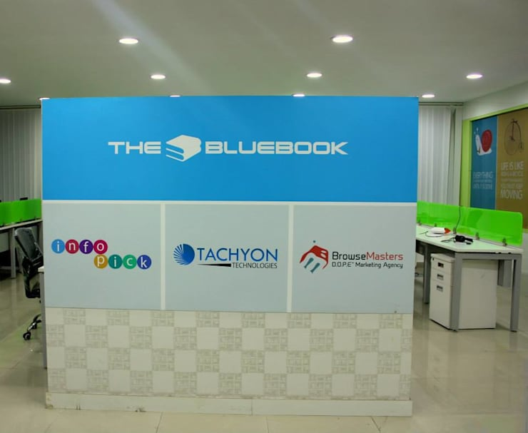 The bluebook:  Office spaces & stores  by Deepaakula Design