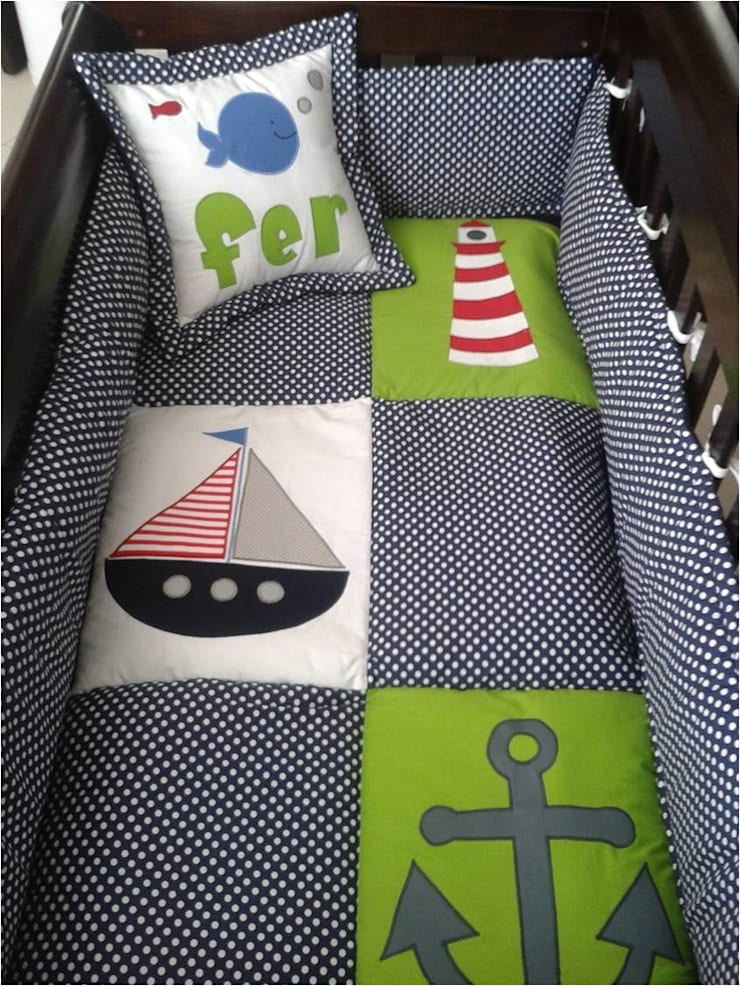 Edredón de cuna a la medida y sobre diseño: Habitaciones infantiles de estilo  por Deco Bebé