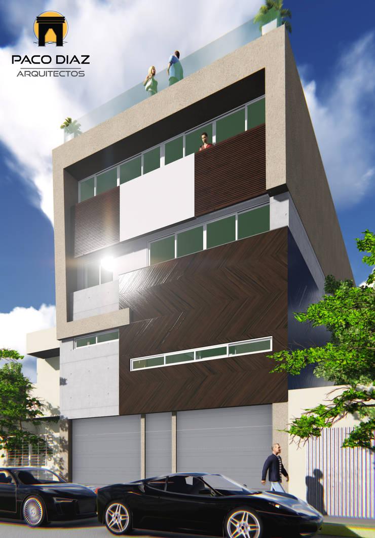 Residencia Cerro Gordo : Casas de estilo  por PACO DIAZ ARQUITECTOS S.A. DE C.V.