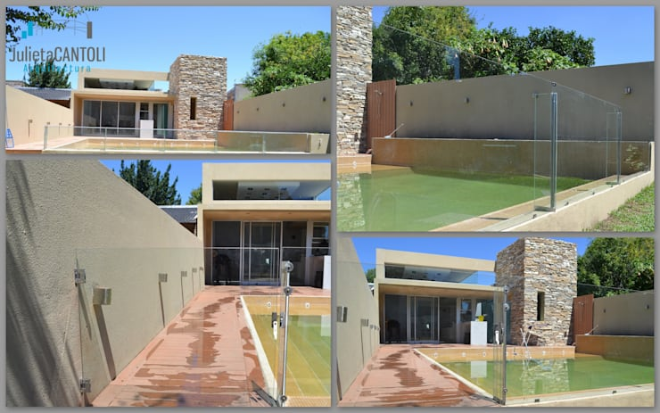 Obra: Quincho y Piscina SG: Casas de estilo  por Arquitectura J Cantoli,