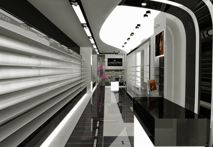 Concepto para Perfumería Coqueteo: Espacios comerciales de estilo  de AG INTERIORISMO