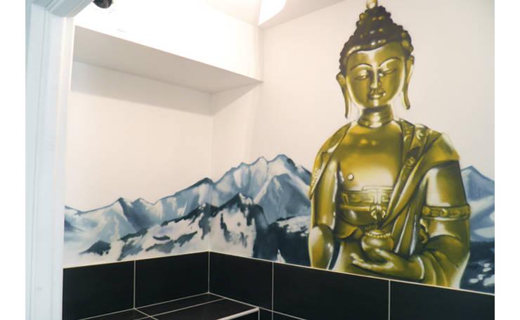 DES TOILETTES AMBIANCE ZEN: Salle de bains de style  par Popek décoration