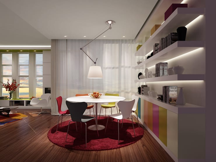 Dining room by atelier blur / georges hung architecte d.p.l.g.
