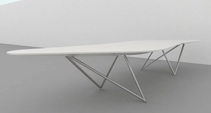 Conference Table Design:  Study/office by atelier blur / georges hung architecte d.p.l.g.