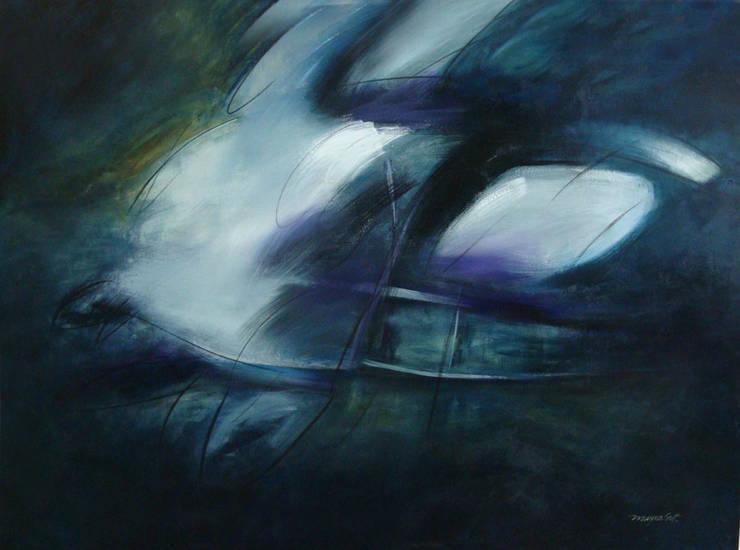 azul intenso: Arte de estilo  por Mayra Gutierrez Art Studio