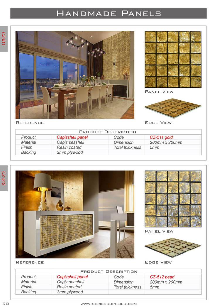 Capiz shell panel: asian  by series supplies,Asian