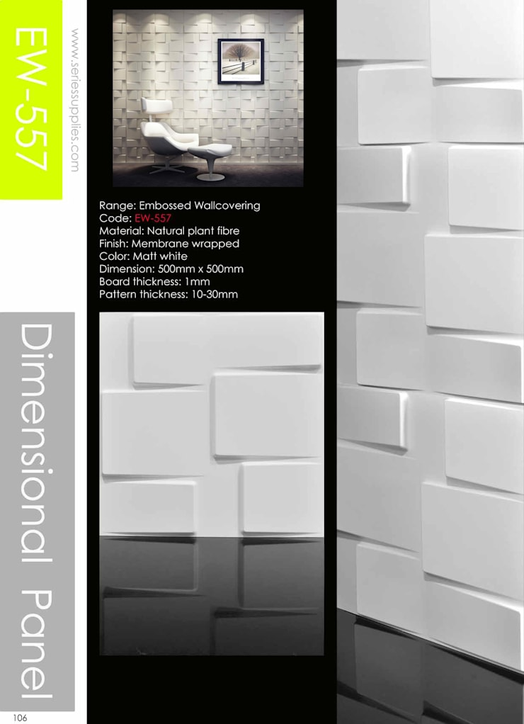 Creates feature wall easily :  Walls & flooring by series supplies,