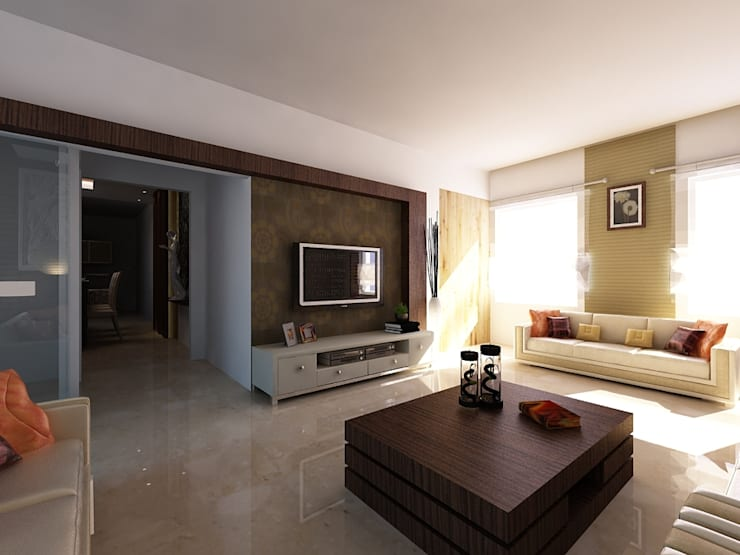 Residence Interior Design: modern Houses by 4D Space Designers