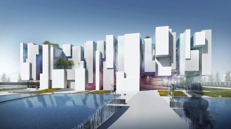 Exhibition Centre-Nanjing:   by atelier blur / georges hung architecte d.p.l.g.