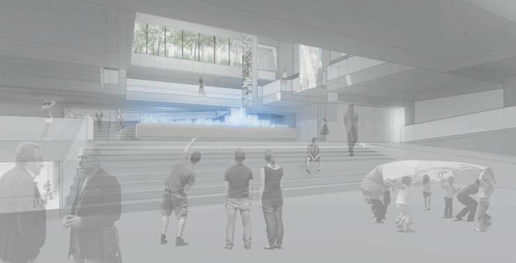 Exhibition Centre-Nanjing: modern  by atelier blur / georges hung architecte d.p.l.g., Modern