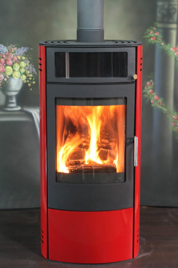 신진벽난로: SINJIN Fireplaces의  거실