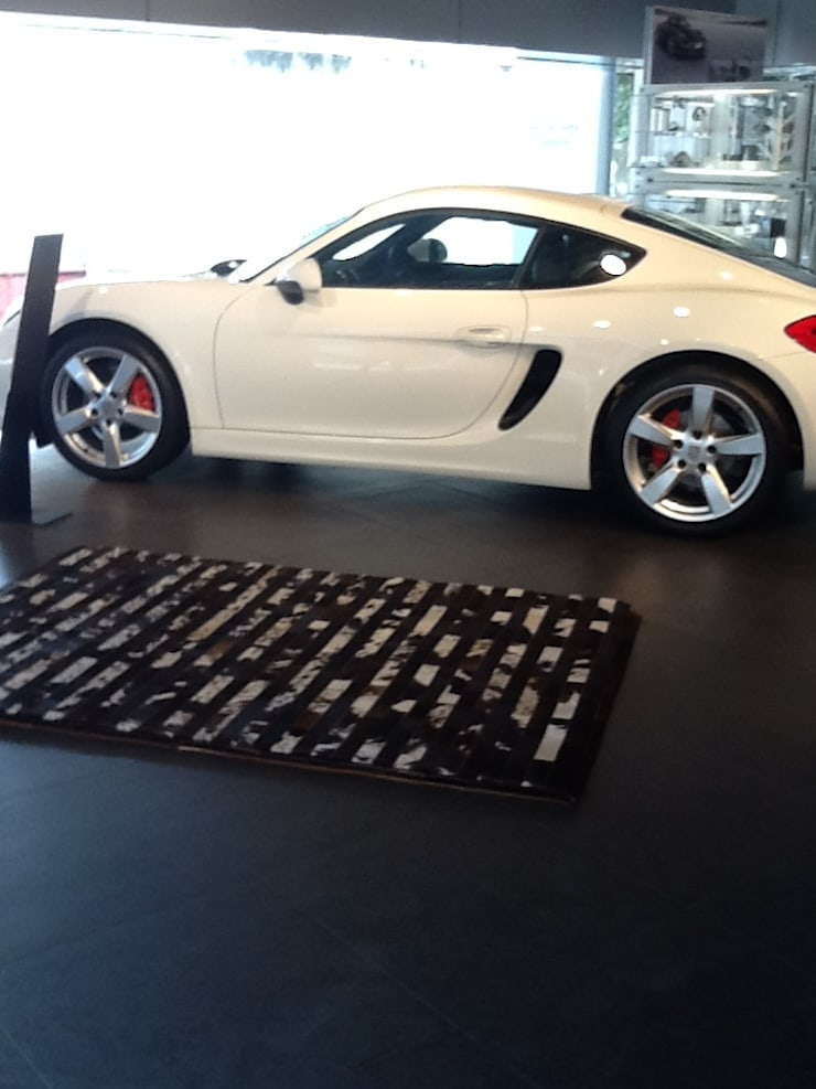 Cocoon at Porsche!:  Artwork by Cocoon Fine Rugs