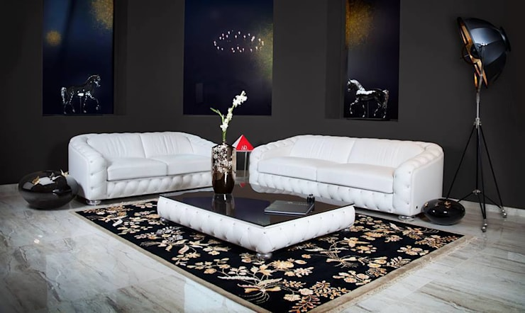 An elegant Wool & Silk rug from our Reflection Collection:  Artwork by Cocoon Fine Rugs