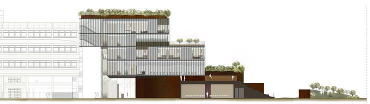 Concorso di idee per la progettazione di edificio polifunzionale con annesso parcheggio ad uso pubblico e privato. II fase.:  in stile  di beatrice pierallini